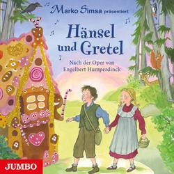 Auf dem Cover ist eine Illustration abgebildet, auf der ein Junge und ein Mädchen zu einem Lebkuchenhaus laufen. Sie halten sich an den Händen.